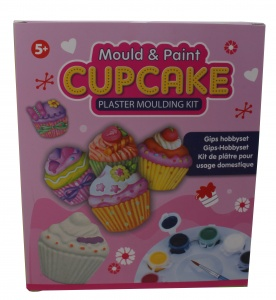 Free and Easy gips hobbyset cupcake