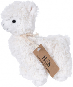 Free and Easy knuffellama 26 x 18 cm pluche wit