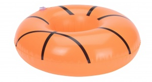 Free and Easy porte-gobelet gonflable 18 cm basketball orange
