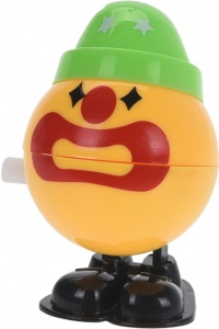 Free and Easy opwindfiguur Clown 6,5 cm geel