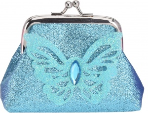 Free and Easy portemonnee clip vlinder 10 cm blauw