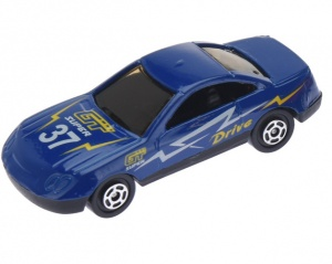 Free and Easy raceauto junior 7,5 cm RVS donkerblauw
