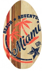 Free and Easy skimboard beach adventure 89x50 cm
