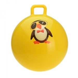 Free and Easy skippybal pinguïn 55 cm geel