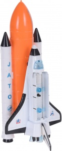 Free and Easy Space Shuttle die-cast met licht 20 cm wit
