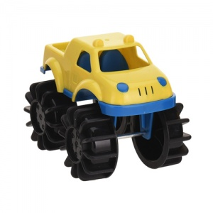 Free and Easy speelgoedauto monstertruck 12 cm geel