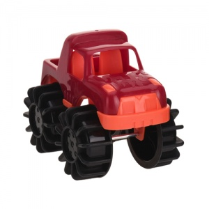 Free and Easy speelgoedauto monstertruck 12 cm rood