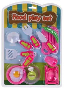 Free and Easy toy set fried egg pink/white 10-piece