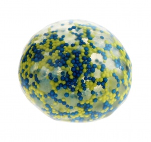 Free and Easy stressbal 5 cm blauw/geel