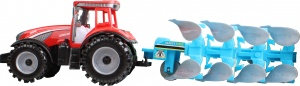 Free and Easy tractor Geoponic ploeg 44 cm rood/blauw