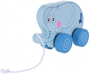 Free and Easy zugtier Elefant 14,5 cm blau
