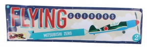 Free and Easy plane Flying Gliders 18 cm Mitsubishi Zero