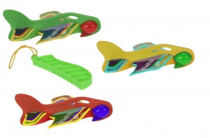 Free and Easy vliegtuigschieter launching toy 12,5 cm 4-delig