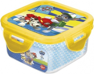 Stor biscuit box Paw Patrol 95 x 95 x 50 mm yellow