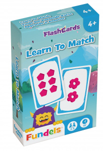 Fundels flashcards Learn To Match 6 x 9,3 cm karton
