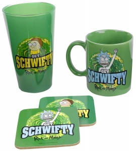 GB Eye cadeauset get swifty: Rick en Morty 300 ml zwart/groen