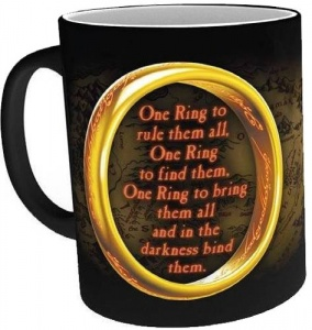 GB Eye warmtemok Lord of the Rings: One Ring zwart 300 ml