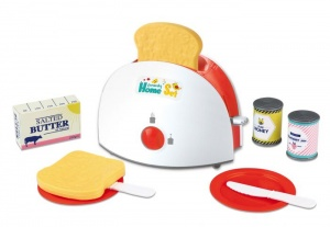 Gerardo's Toys toaster with accessories 16 cm red/white