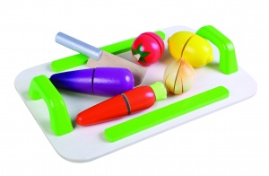 Gerardo's Toys wooden vegetables with chopping board 7-piece