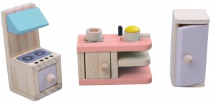 Gerardo's Toys kitchen wood 5-piece