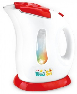 Gerardo's Toys kettle with light and sound 20 cm red/white
