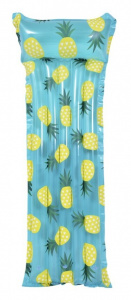Gerimport luchtbed ananas 183 x 68 cm PVC blauw/geel