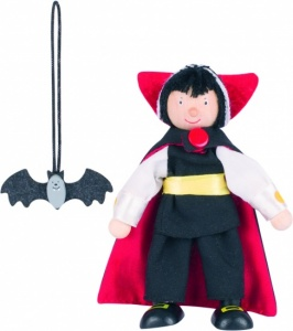 Goki Wood Bending Vampire Doll 11cm