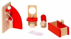 Goki Wooden Doll House Bathroom 5-Piece