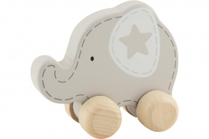 Goki draught animal Elephant wood grey 9 x 11 cm