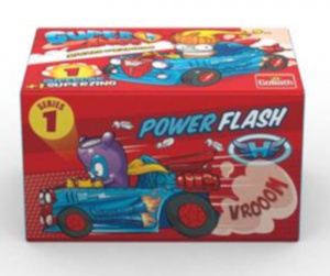 Goliath superzings Supercar jongens flash-blauw 2-delig