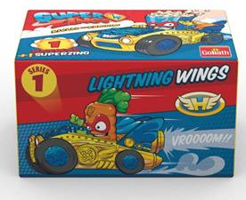 Goliath superzings Supercar jongens wings-geel 2-delig
