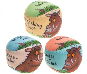 Kamparo speelbal The Gruffalo 8 cm junior 3-delig