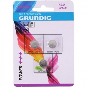 Grundig batteries button cell LR44 3 pieces