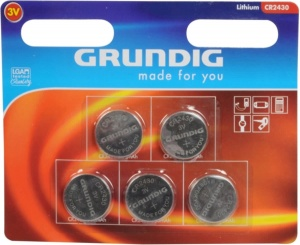 Grundig button cell batteries CR2430 5 pieces