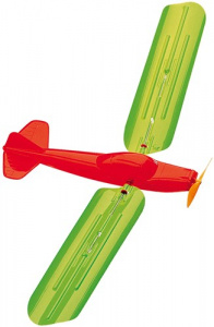 Günther kite airplane junior 48 x 21 cm green/orange