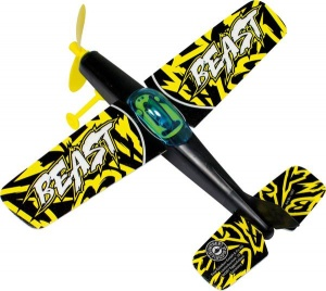 Günther airplane Beast 25 x 22 cm yellow / black