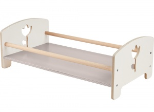 Haba houten poppenbed Tulpendroom 45 cm wit