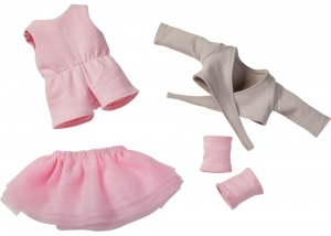 Haba clothing set Balletdroom 32 cm pink/grey