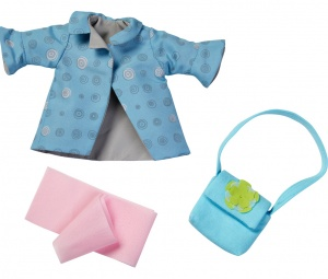 Haba clothes set Autumn wind 32 cm blue/pink