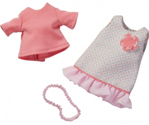 Haba clothes set Summer dream 32 cm pink