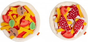 Haba mini-Pizzas Junior 12 cm Polyester rot 2-teilig