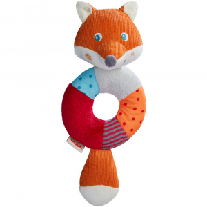 Haba rattle fox Foxie junior 23 x 9,5 cm polyester orange/red