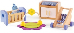 Hape Wooden dollhouse baby room