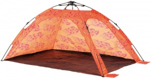 Happy People beachshelter strandtent 215 x 150 x 115 cm oranje