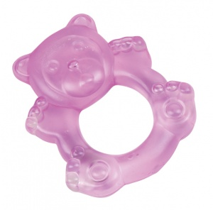 Happy People teething ring bear pink 9 cm