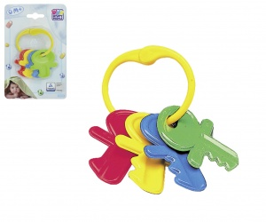 Happy People teething ring with keys 6 cm