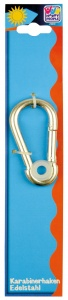 Happy People carabiner 100 mm stainless steel silver each