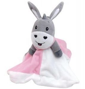 Happy People cuddly blanket Donkey 28 cm white/pink/grey