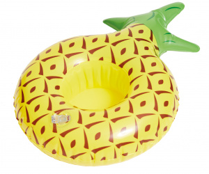 Happy People porte-gobelet gonflable Ananas 19 cm jaune