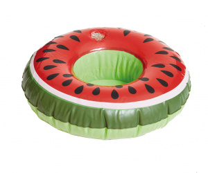 Happy People porte-gobelet gonflable Melon 19 cm rouge/vert